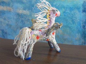 Видео мастер-класс: лошадка  «На крыльях счастья» из папье-маше. Ярмарка Мастеров - ручная работа, handmade.