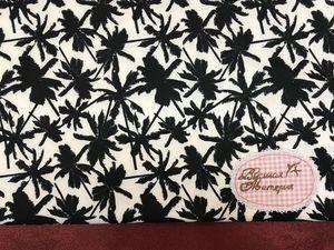 В наличии: Черно-белые пальмы. Лайкра. Ярмарка Мастеров - ручная работа, handmade.