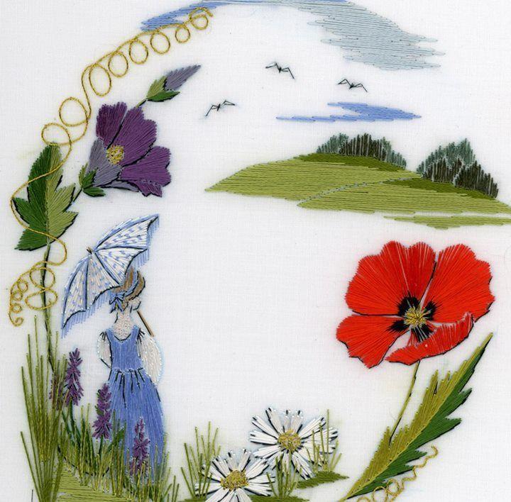 Достояние Англии — изысканная вышивка гладью Helen M. Stevens, фото № 20