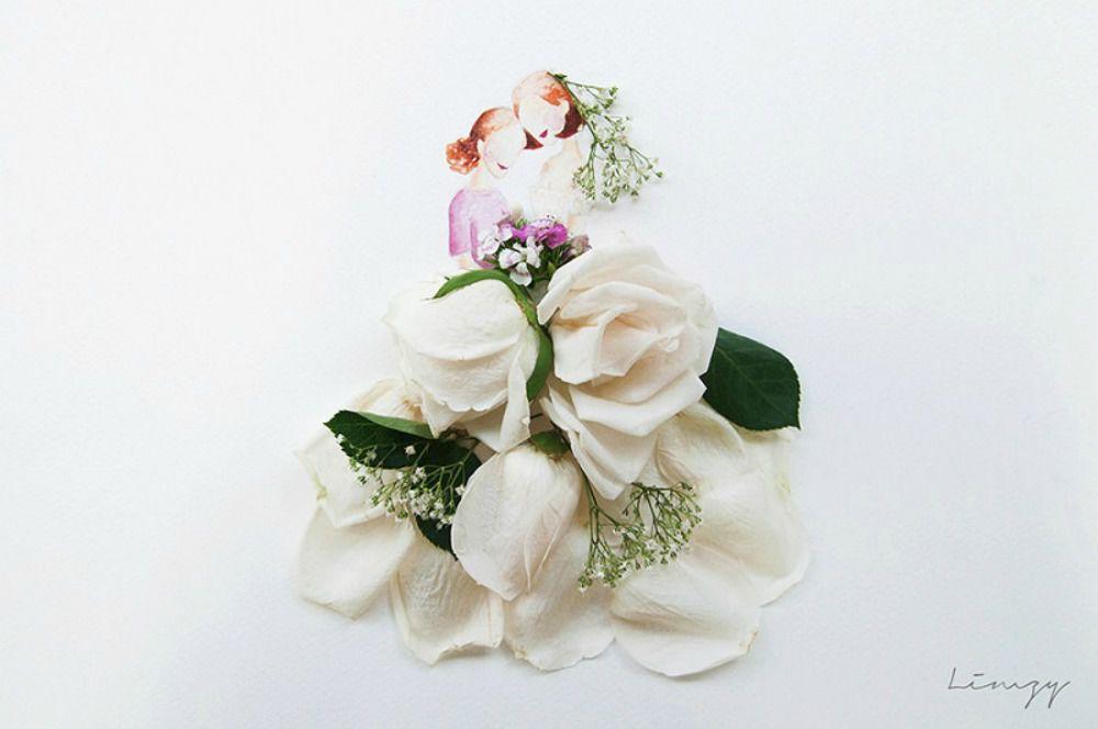 акварели лим чжи вэй, цветок