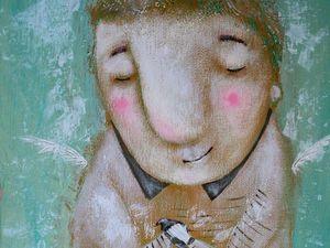 Ангел с птичкой!. Ярмарка Мастеров - ручная работа, handmade.