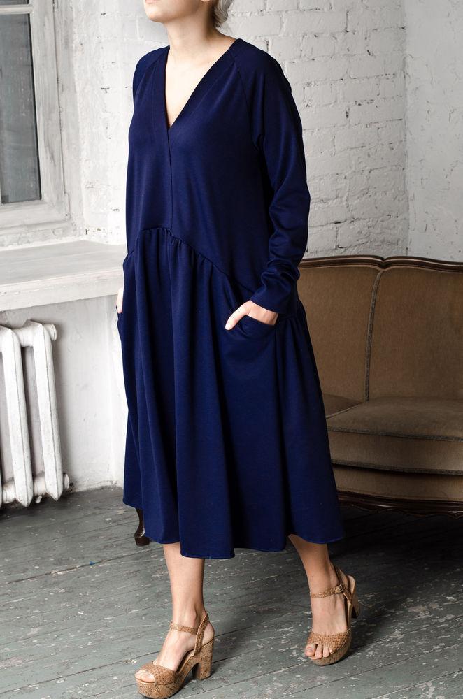 52 размер, 56 размер, платье для беременной, мода для полных, платье на каждый день, весеннее платье, оверсайз, платье на работу, платье для отпуска, синее платье
