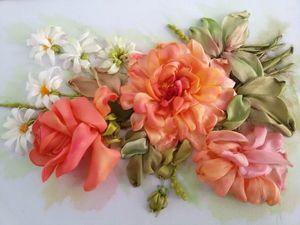 На вышивку Розы и ромашки скидка 10% только 2 для | Ярмарка Мастеров - ручная работа, handmade