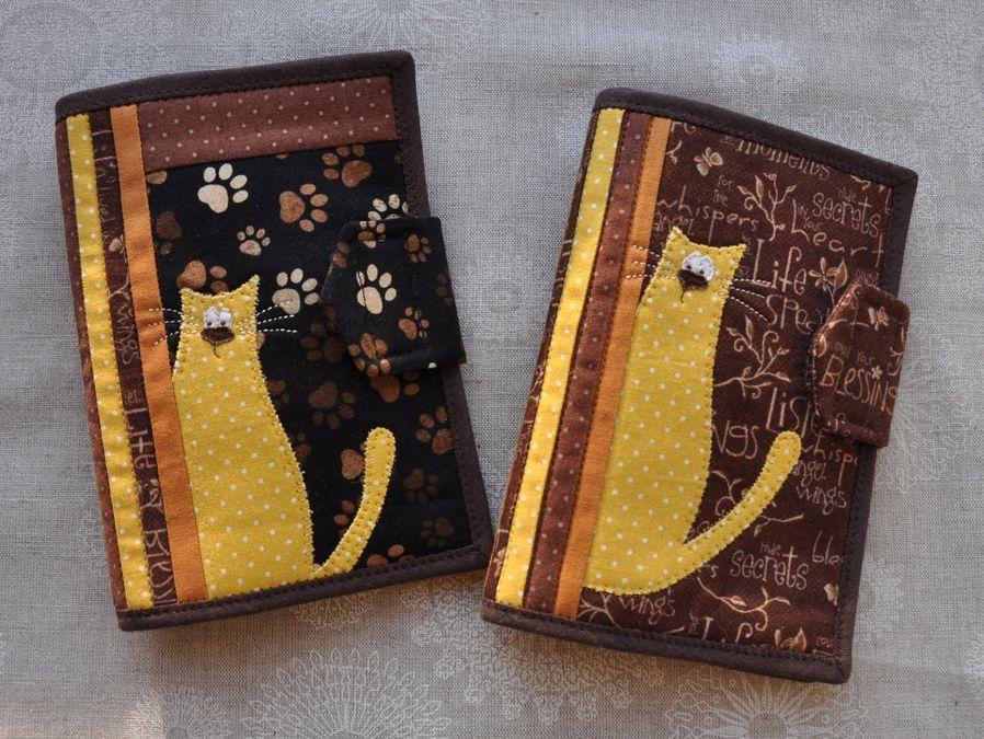 обложка для паспорта, котаус, мастер-класс, лоскутное шитье