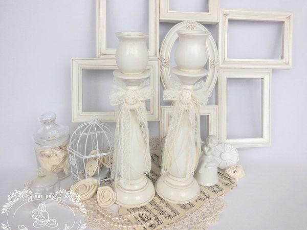 Подсвечники с камеей из Жемчужной коллекции для Ольги | Ярмарка Мастеров - ручная работа, handmade