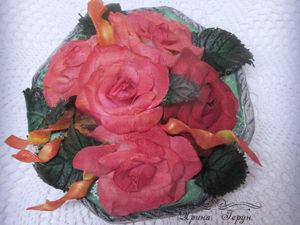 Корзина роз - видео и фото новой шкатулки. Ярмарка Мастеров - ручная работа, handmade.