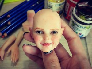 Немного процесса создания новой куколки Алисы. Ярмарка Мастеров - ручная работа, handmade.