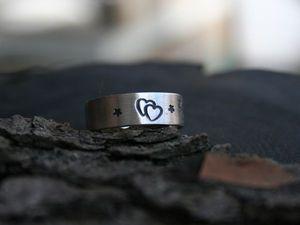 Кольцо с надписью | Ярмарка Мастеров - ручная работа, handmade