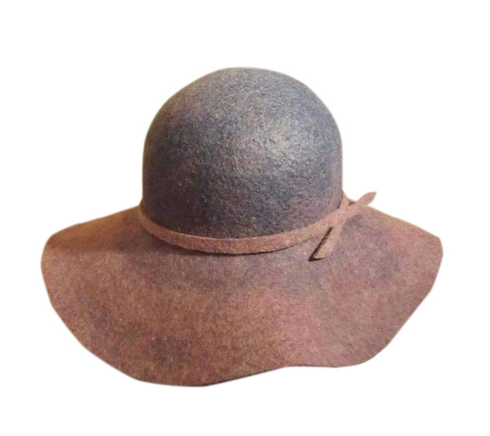 МК Натальи Сафоновой  «Валяная шляпа с  полями из кардочеса», фото № 1