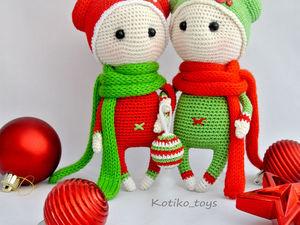 Вяжем милых новогодних пупсов. Ярмарка Мастеров - ручная работа, handmade.