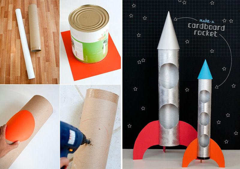 Как сделать своими руками ракету картона