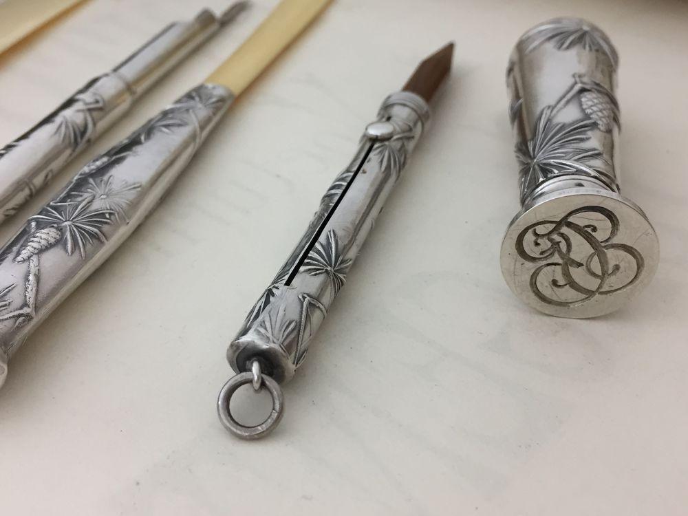серебряный набор