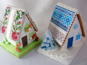 Делаем пряничные домики: зимний и летний. Часть 1 | Ярмарка Мастеров - ручная работа, handmade