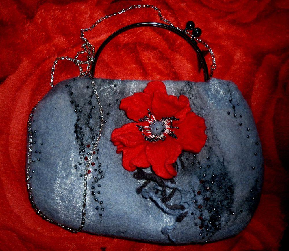 сумка ручной работы, сумочка на фермуаре