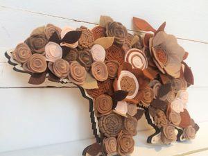 Делаем панно «Медведь» из фетра. Ярмарка Мастеров - ручная работа, handmade.