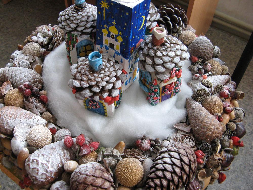 выставка, симферополь, детское творчество, кружок рукоделия, дети, знания, интересно, рождество, композиция, рождество в деревне