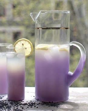 Try lavender lemonade, signature drink purple summer wedding
