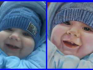 Мой выигрыш -портрет малыша!!! | Ярмарка Мастеров - ручная работа, handmade