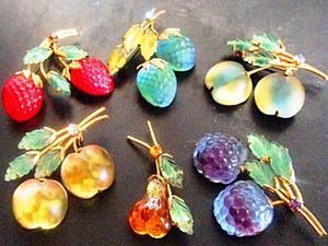 """Delicious"" Brooches: Vintage Jewelry from Austria. Livemaster - handmade"