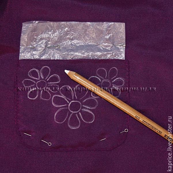 рисунок на ткани, мастер-класс от капризули