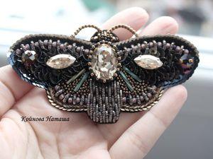 Брошка Бабочка он-лайн | Ярмарка Мастеров - ручная работа, handmade
