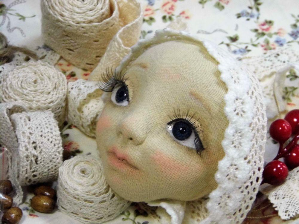 скульптурный текстиль, кукольное лицо