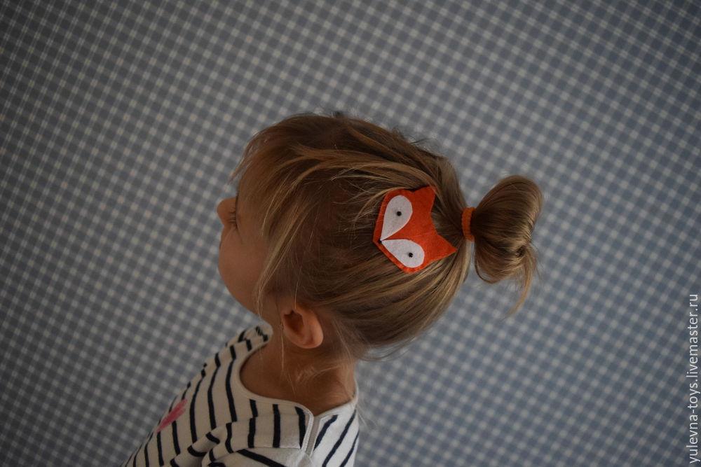 Шьем с ребенком заколку из фетра «Лисичка», фото № 16