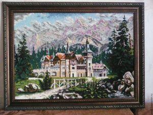 """Аукцион на Панно, вышитое бисером """"Замок"""". Ярмарка Мастеров - ручная работа, handmade."""
