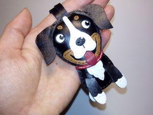 брелок кожаный собака. Ярмарка Мастеров - ручная работа, handmade.
