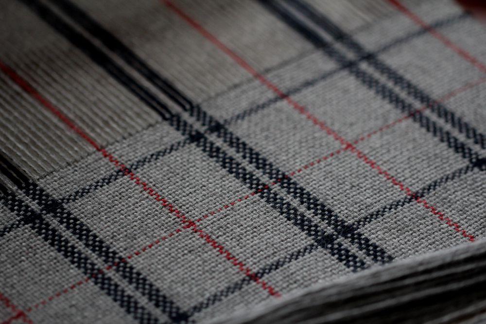 ткачество, ткацкий станок, шарф, клетка, мужской подарок, процесс работы