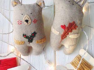 Шьем в подарок текстильные игрушки «Лисичка и Медведь». Ярмарка Мастеров - ручная работа, handmade.