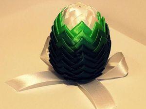 Создаем пасхальное яйцо из атласных лент в технике «артишок». Ярмарка Мастеров - ручная работа, handmade.