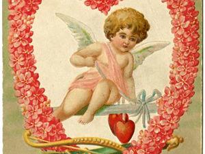 Винтажные открытки ко Дню Святого Валентина. Ярмарка Мастеров - ручная работа, handmade.