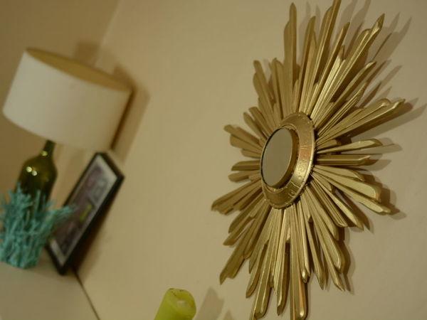 Делаем интерьерное зеркало-солнце в стиле Ар-деко | Ярмарка Мастеров - ручная работа, handmade