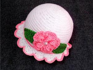 Вяжем крючком шляпку-панамку. Ярмарка Мастеров - ручная работа, handmade.