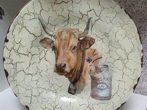 Обратный Декупаж на Тарелке скидка! | Ярмарка Мастеров - ручная работа, handmade