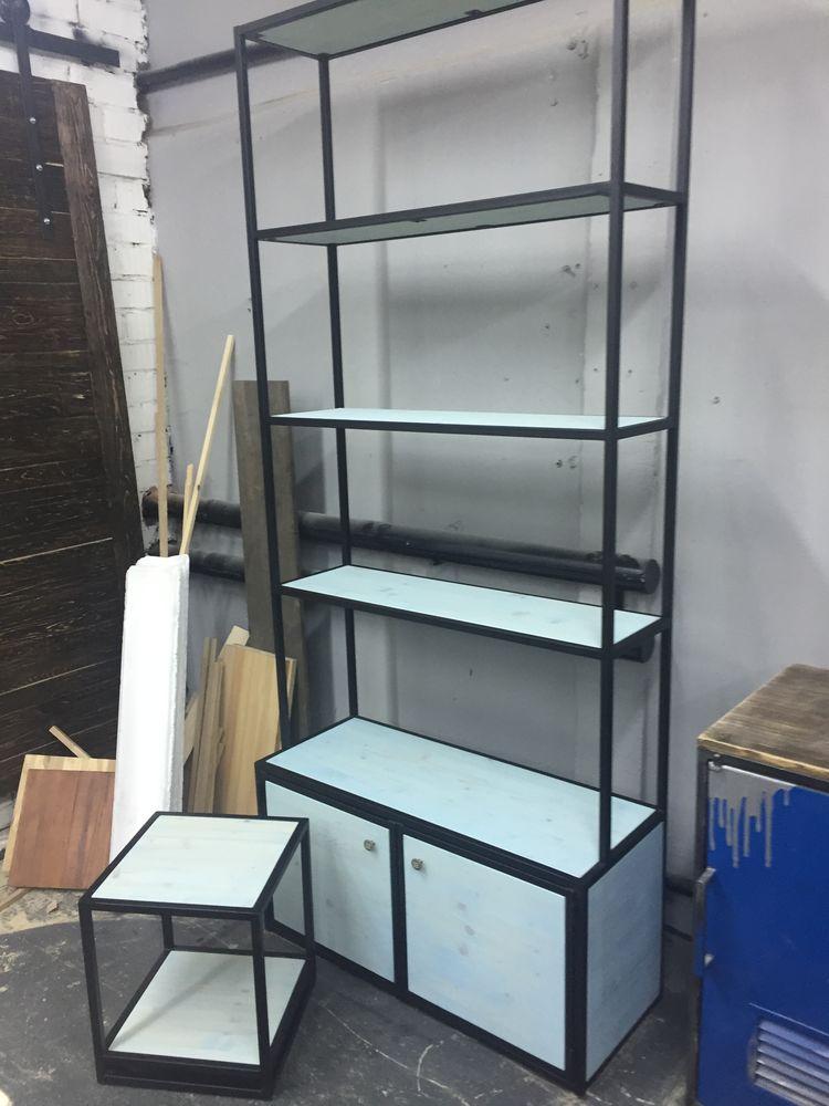 мебель лофт, стеллаж лофт, мебель на заказ