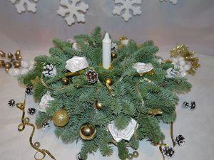 Создаем новогоднюю композицию из натуральной ели. Ярмарка Мастеров - ручная работа, handmade.