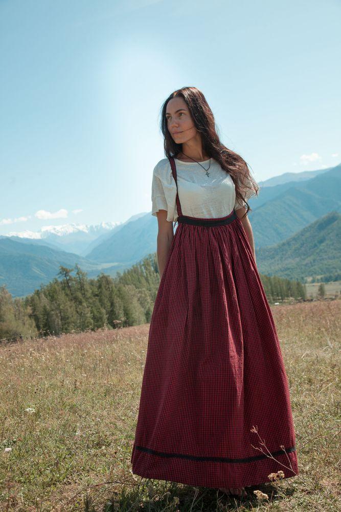 юбка длинная, русский костюм