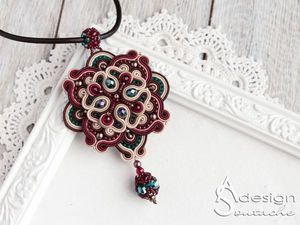 "How to Make a ""Sweet East"" Pendant Using Soutache Embroidery Technique. Livemaster - handmade"