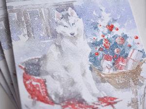 Открытки с символом 2018 года готовы!. Ярмарка Мастеров - ручная работа, handmade.