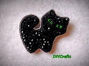 """Создаем брошь """"Кошка"""" из бисера. Ярмарка Мастеров - ручная работа, handmade."""