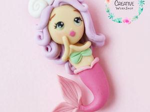 Лепим милую русалочку из полимерной глины. Ярмарка Мастеров - ручная работа, handmade.
