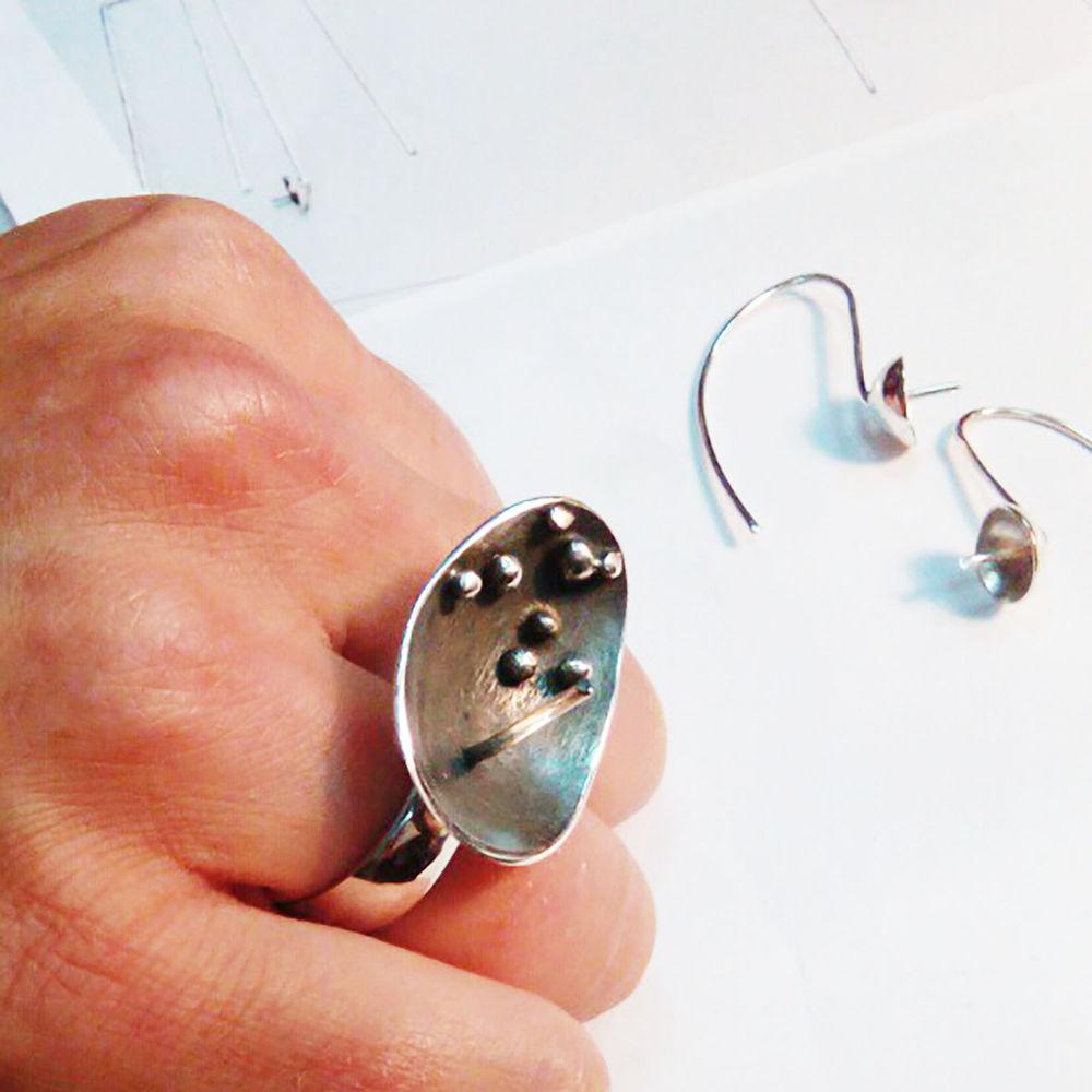 кольцо с кабошоном, мастерская металлофон