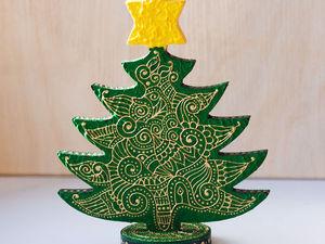 Мастер-класс по росписи новогодней ёлочки в стиле мехенди. Ярмарка Мастеров - ручная работа, handmade.