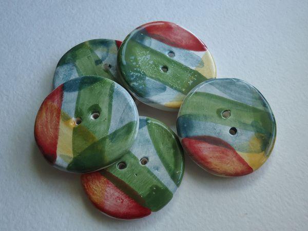 Запись на долгожданный  мк по керамическим пуговицам с глазурями | Ярмарка Мастеров - ручная работа, handmade