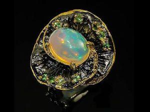 Скидка 20% на кольцо с опалом. Ярмарка Мастеров - ручная работа, handmade.