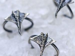 Новинка — кольцо Крошка Скат. Ярмарка Мастеров - ручная работа, handmade.