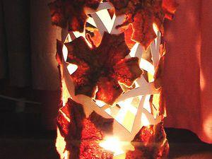Делаем светильник «Тёплая осень» в технике мокрого валяния. Ярмарка Мастеров - ручная работа, handmade.