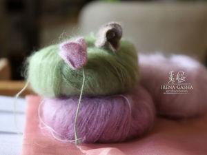 Видео мастер-класс: Бутон из мохера. Люневильская вышивка. Ярмарка Мастеров - ручная работа, handmade.